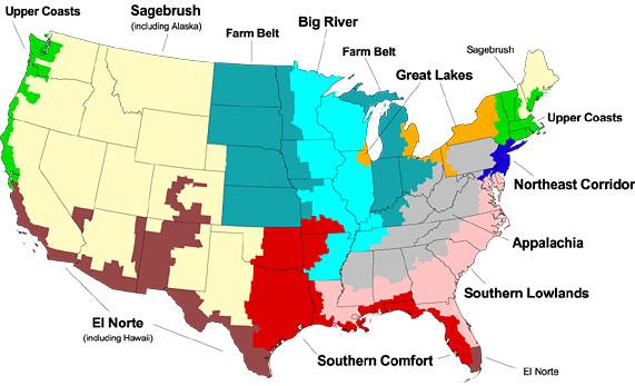10 Regions of the U.S.